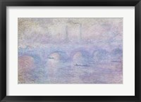 Framed Waterloo Bridge: Effect of the Mist, 1903