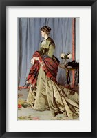 Framed Portrait of Madame Louis Joachim Gaudibert, 1868