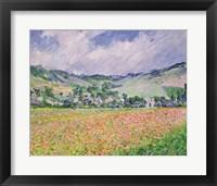 Framed Poppy Field near Giverny, 1885