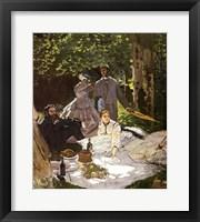 Framed Dejeuner sur l'Herbe, Chailly, 1865