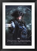 Framed Pirates of the Caribbean 4 - Black Beard