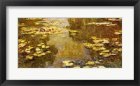 Framed Lily Pond - yellow