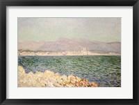 Framed Gulf of Antibes, 1888