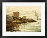Framed Seine at Petit-Gennevilliers, 1872