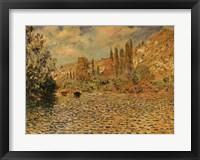 Framed Seine at Vetheuil