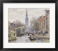 Framed Canal a Amsterdam, 1874