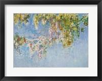 Framed Wisteria - blue
