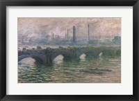 Framed Waterloo Bridge, 1901