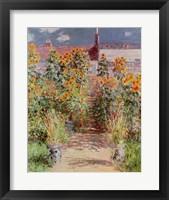 Framed Garden at Vetheuil, 1881
