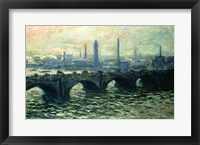 Framed Waterloo Bridge, 1902