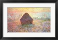 Framed Haystack, Hazy Sunshine, 1891