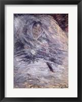 Framed Camille Monet on her Deathbed