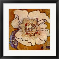 Framed Caribbean Flower One