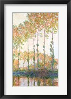 Framed Poplars on the Banks of the Epte, Autumn, 1891