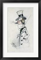 Framed Dandy with a Cigar, 1857