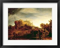 Framed Landscape with a Chateau