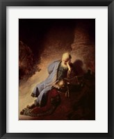 Framed Jeremiah mourning over the Destruction of Jerusalem