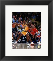 Framed Michael Jordan & Kobe Bryant 1998 Action
