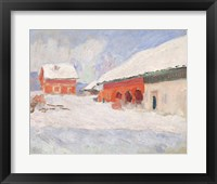 Framed Norway, Red Houses at Bjornegaard, 1895