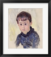 Framed Michel Monet in a Blue Jumper