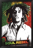 Framed Bob Marley - Soul Rebel