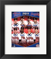 Framed Atlanta Braves 2011 Team Composite