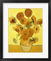 Framed Sunflowers, 1888 yellow
