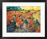 Framed Red Vineyards at Arles, 1888