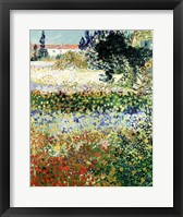 Framed Garden in Bloom, Arles, 1888