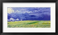 Framed Wheatfields under Thunderclouds, 1890