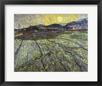 Framed Enclosed field with rising sun, 1889