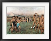 Framed Young Spartans Exercising, c.1860