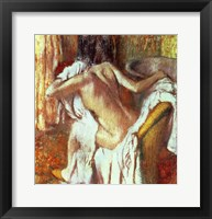 Framed Woman drying herself
