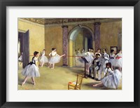 The Dance Foyer at the Opera on the rue Le Peletier, 1872 Framed Print