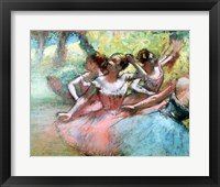 Framed Four ballerinas on the stage