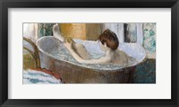 Framed Woman in her Bath, Sponging her Leg, c.1883