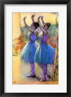 Framed Two Blue Dancers