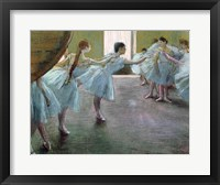 Dancers at Rehearsal Framed Print