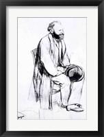 Framed Study for a portrait of Manet