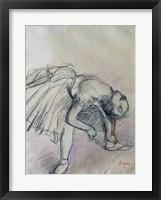 Framed Dancer Fixing her Slipper, c.1865