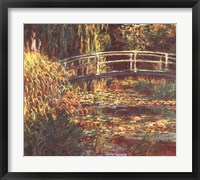 Framed Le Bassin aux Nympheas: Harmonie Rose