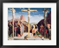 Framed Calvary, after a painting by Andrea Mantegna