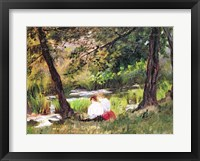 Framed Two Seated Women
