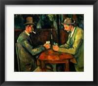 Framed Card Players 1890-95
