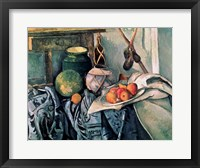 Framed Still Life with Pitcher and Aubergines