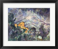 Framed Montagne Sainte-Victoire and the Black Chateau