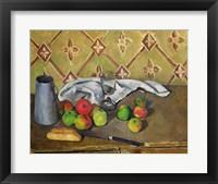 Framed Fruit, Serviette and Milk Jug, c.1879-82