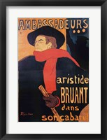 Framed Ambassadeurs: Aristide Bruant, 1892