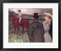 Framed At the Racecourse, 1899