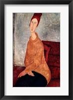 Framed Jeanne Hebuterne in a Yellow Jumper, 1918-19